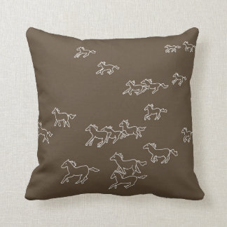 Horses Running Pillow