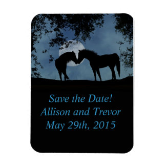 Horses Save the Date Magnet! Magnet