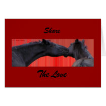 Horses share the love Card