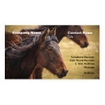 Horses Side By Side Business Card Template