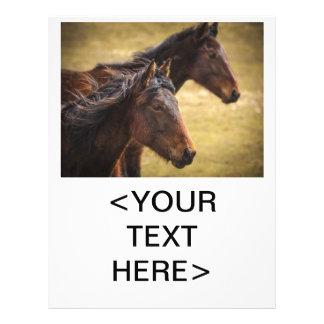 Horses Side By Side Full Color Flyer