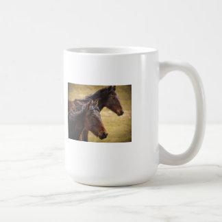 Horses Side By Side Coffee Mugs
