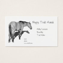Horses, Stable, Riding, Lesson: Horses in Pencil Business Card