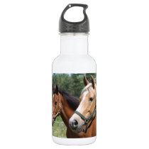Horses Stainless Steel Water Bottle