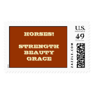 HORSES! STRENGTH BEAUTY GRACE POSTAGE