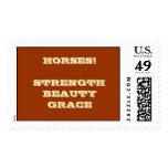 HORSES! STRENGTH BEAUTY GRACE POSTAGE