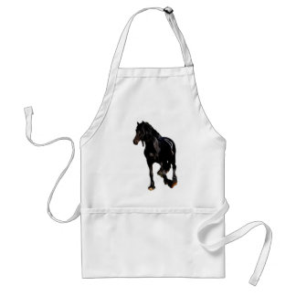 Horses sudden turn adult apron