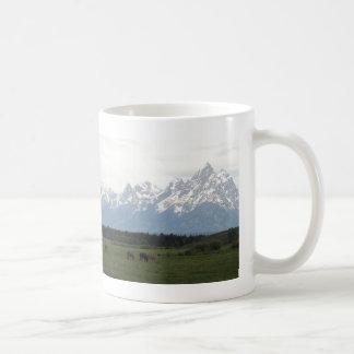 Horses & Tetons Classic White Coffee Mug