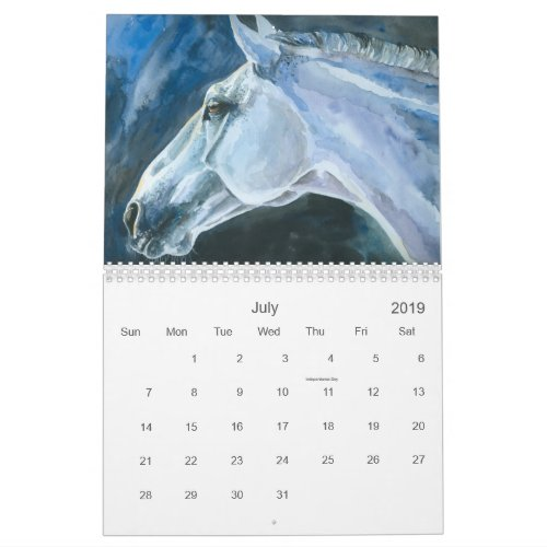 Horses, the Art of Eve Mazur 2019 Calendar