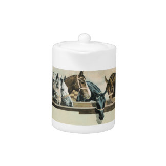 Horses Together teapot