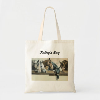 Horses Together tote Budget Tote Bag
