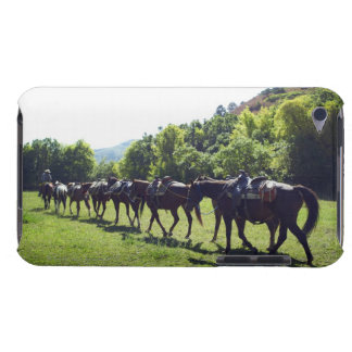 Horses walking in a line iPod touch cover