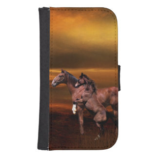Horses Wallet Phone Case For Samsung Galaxy S4