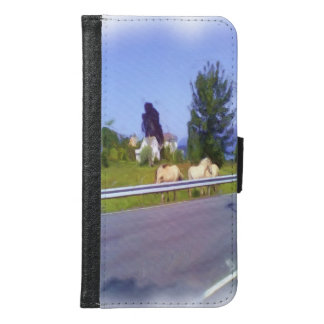 Horses Wallet Phone Case For Samsung Galaxy S6
