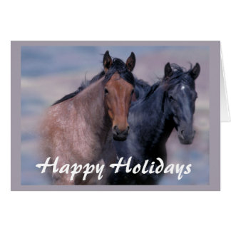 Horses Wild and Beautiful Christmas Card