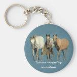Horses Wild and Wonderful Keychain