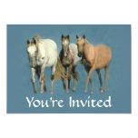 Horses Wild and Wonderful Party Invitation
