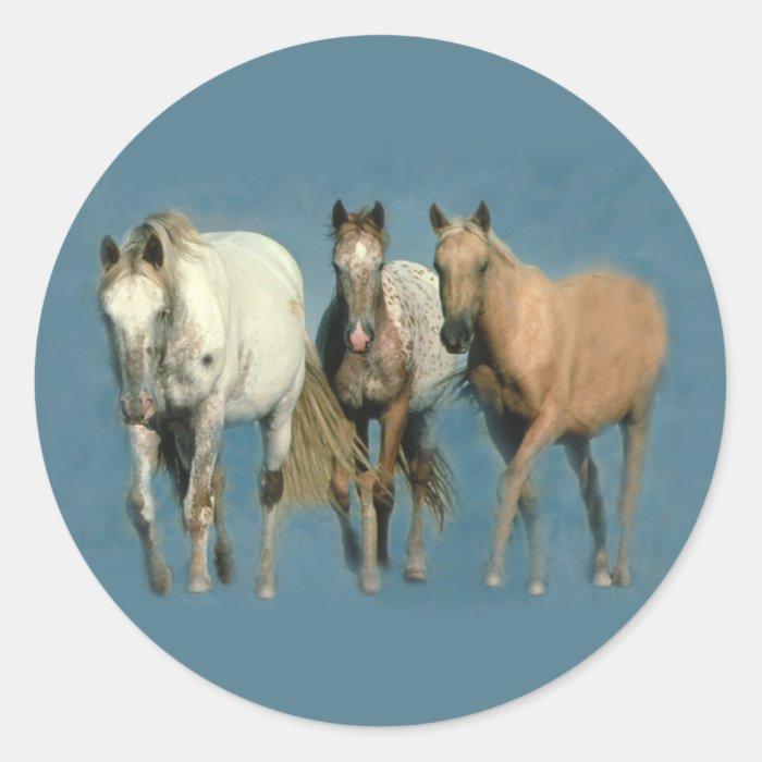 Horses Wild and Wonderful Sticker