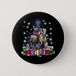 Horses with Christmas Styles Button
