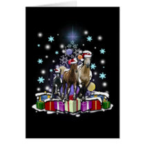 Horses with Christmas Styles Card