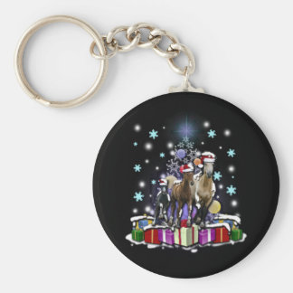 Horses with Christmas Styles Keychain
