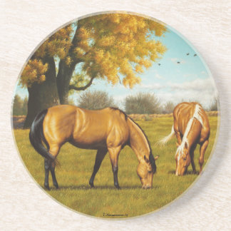 Horses with Fall Colors Coaster