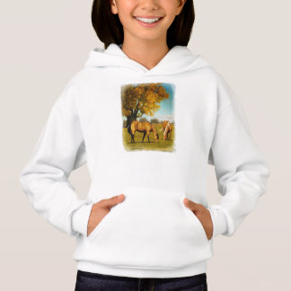 Horses With Fall Colors Girl Hoodie