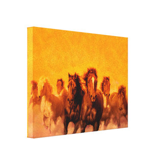 Horses - Wrapped Canvas