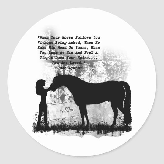 Horses- You Are Loved Classic Round Sticker