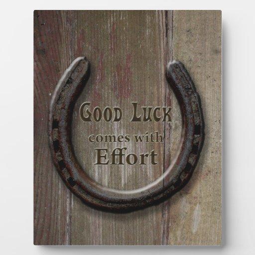 Snap Horseshoe A Good Luck Symbol Plaque Zazzle Photos On Pinterest