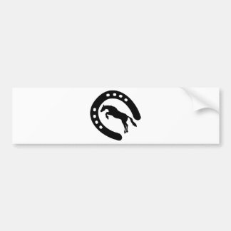 horseshoe-and-horse bumper stickers