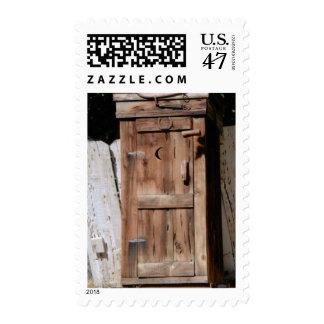 Horseshoe and Moon Nevada Outhouse USPS Stamp