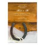 Horseshoe and Pearls Country Bridal Shower Invite