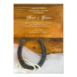 Horseshoe and Pearls Country Rehearsal Dinner Personalized Announcement