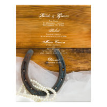 Horseshoe and Pearls Country Wedding Menu