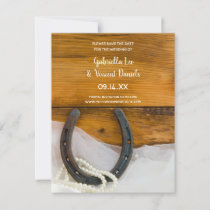 Horseshoe and Pearls Western Wedding Save the Date