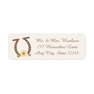 HORSESHOE AND SUNFLOWER RETURN ADDRESS LABEL