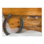 Horseshoe and Veil Country Bridal Shower Invite