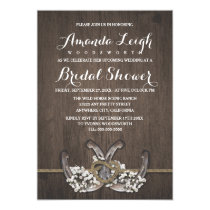Horseshoe Baby's Breath Bridal Shower Invitations