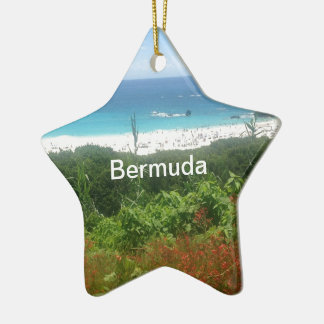 Horseshoe Bay Beach, Bermuda Ceramic Ornament