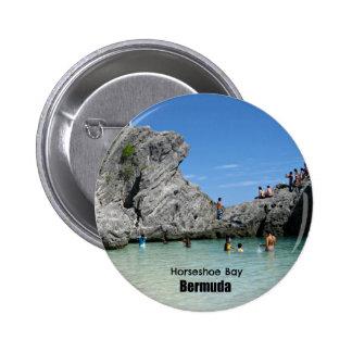 Horseshoe Bay, Bermuda 2 Inch Round Button