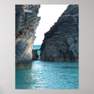 Horseshoe Beach Bermuda Poster