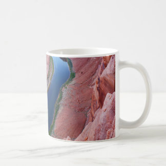 Horseshoe bend Arizona top view Coffee Mug