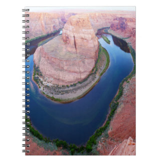 Horseshoe bend Arizona top view Spiral Notebook