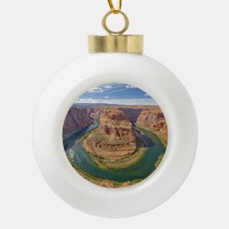Horseshoe Bend, Arizona, USA Ceramic Ball Christmas Ornament