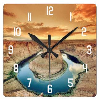 Horseshoe Bend Caynon Square Wall Clock