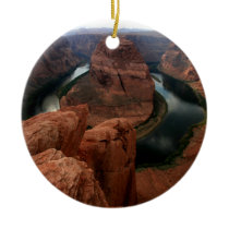 Horseshoe Bend, Colorado River Arizona Ceramic Ornament