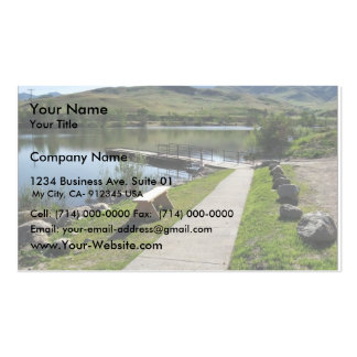 Horseshoe Bend Mill Pond Boating Access Double-Sided Standard Business Cards (Pack Of 100)