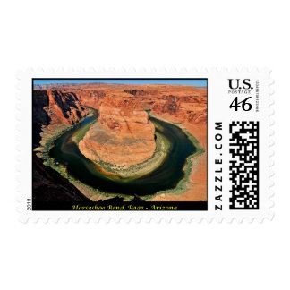 Horseshoe Bend - Page Arizona Postage Stamp