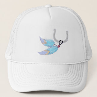Horseshoe Blue Feathers Hats